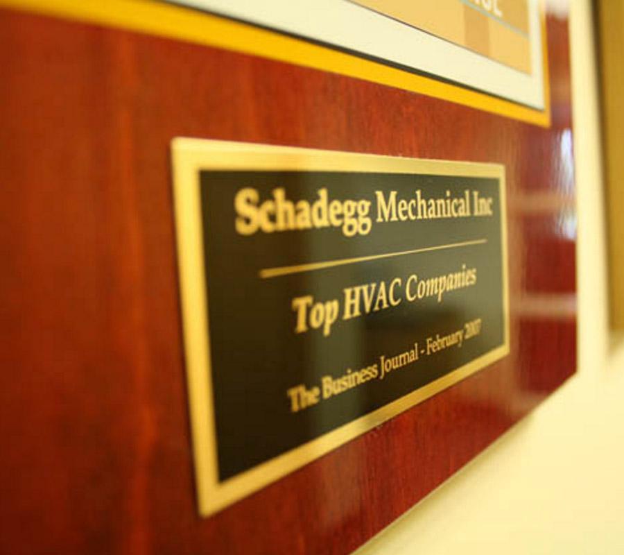Schadegg Mechanical - Top HVAC companies - The Business Journal